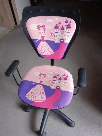 Krzesło obrotowe, różowe,  dziecięce do biurka