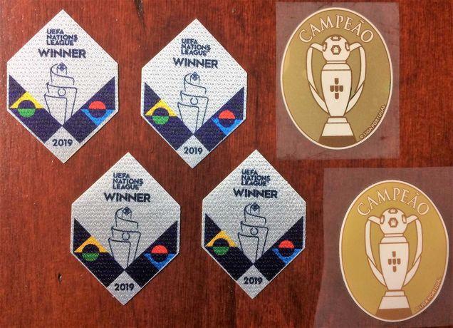 Emblema patch badge vencedor liga das nações camisola de Portugal