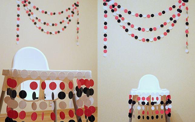 Dekoracja na chrzest, roczek, sesję Komplet krzesełko + tło, ściana