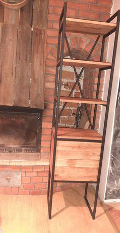 Regał industrialny/loft lite drewno dąb plus dwie szuflady.