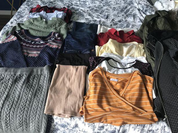 Paczka ubrań ciążowych H&M i inne marki