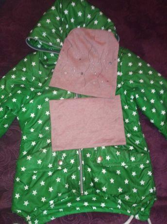 Курточка на 5-6 лет + наборчик