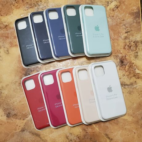 ЛЮКС Чехол на iPhone 11 Pro. ТОП качество Silicon case ( Силикон кейс)