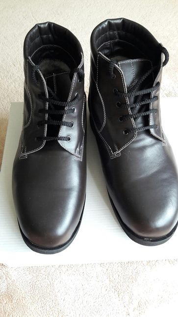 Новые зимние ботинки, кожа, ортопед, классические, размер 44.5- 45