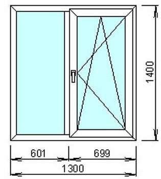 Окно с энергосберегающим 2 камерным стеклом за 2720 грн