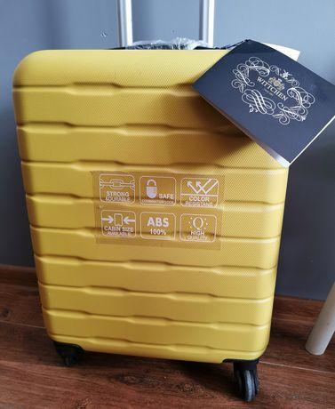 Nowa Walizka kabinowa podróżna bagaż Wittchen żółta zamek szyfr