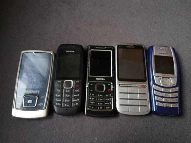 Stare telefony komórkowe NOKIA, SAMASUNG. Cena za wszystkie.