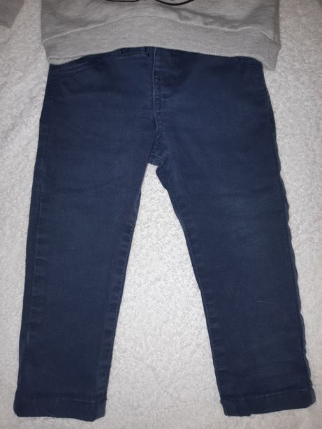 Котоновые штанишки на мальчика 9-12 мес.