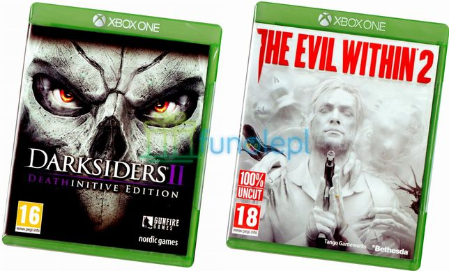 2 GRY Darksiders 2 +The Evil Within 2 XO NOWE PL