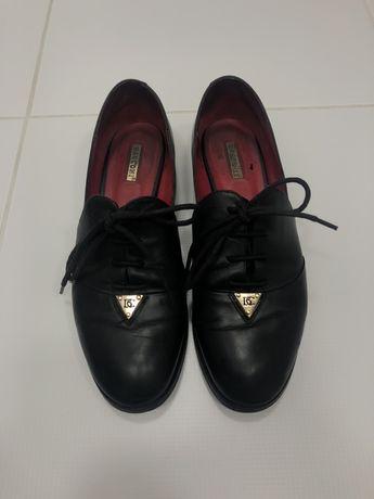 Basconi лоферы на шнуровке, кожаные