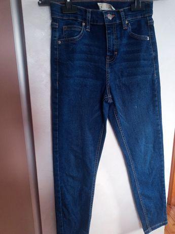 Top shop spodnie jeansowe W 25 L28 pas 30 cm