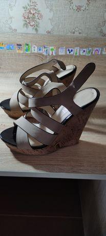 Босоножки, сандали, туфли тонкетка кожа,  качество супер 37 размер