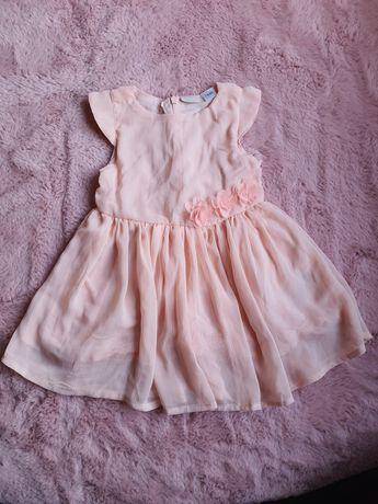Sukienka różowa tiulowa lupilu 74 80 cm 9 12 msc wiosna lato wesele