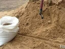 Песок Писок отсев відсів навалом та в мішках цемент доставка чорнозем