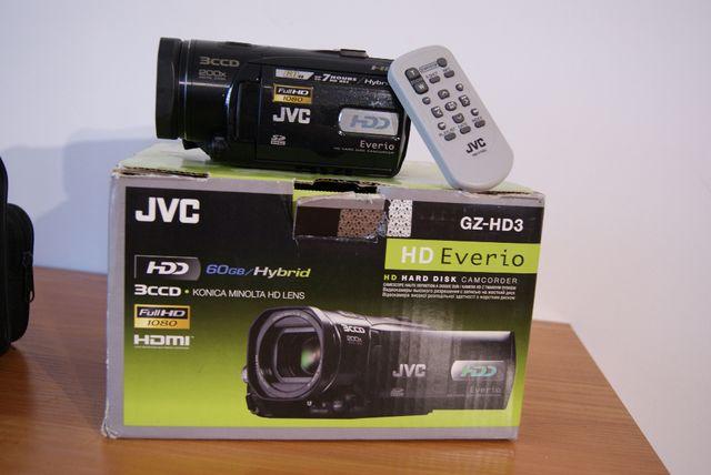 Kamera cyfrowa JVC GZ HD3E -full HD dysk 60 GB