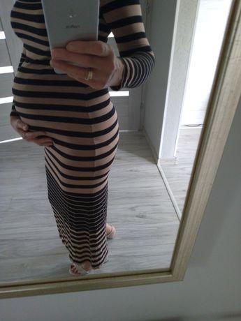 Długa sukienka ciążowa