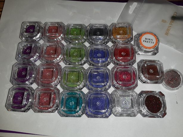 Блестки для наращивания ногтей маникюр гель-лак новогодние наклейки
