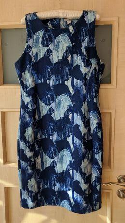 Sukienka H&M L granat wzór