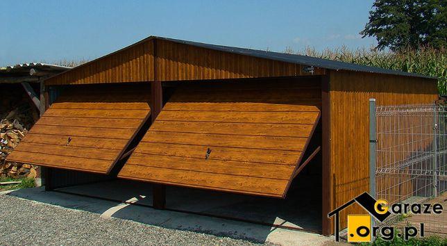 Garaże Blaszane 6x5 Blaszaki Drewnopodobne Złoty Dąb Garaż Premium