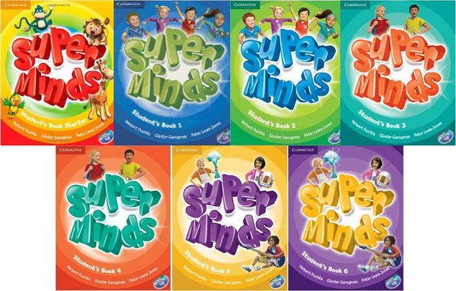 Комплект Super Minds 1,2,3,4,5,6 Student's + Workbook