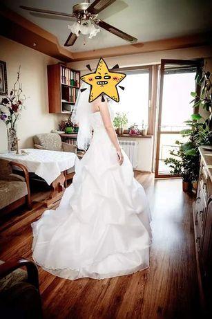 Suknia ślubna 36, 164cm +obcas