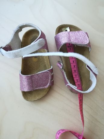 Sandały brokat róż rozmiar 23