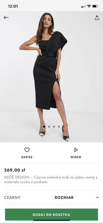 elegancka sukienka asos