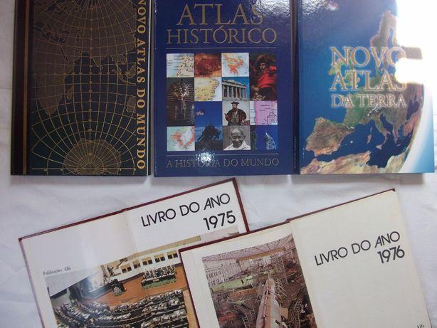 Atlas Mundo, Atlas Histórico, Atlas da Terra e Livros Anos 1975 e 76