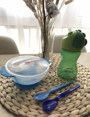 Поильник Philips Avent, тарелка на присоске, бамбуковая посуда