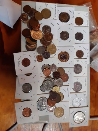 Mega lote moedas do mundo