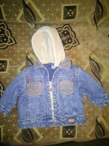 Джинсовая куртка Baby club 74 см.
