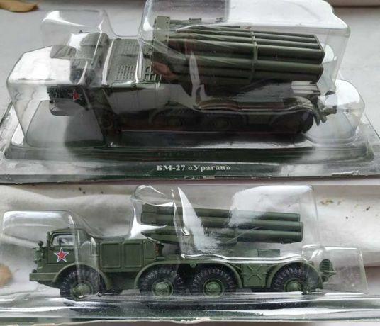 Model rosyjskiego zestawu rakietowego - BM 27 Huragan