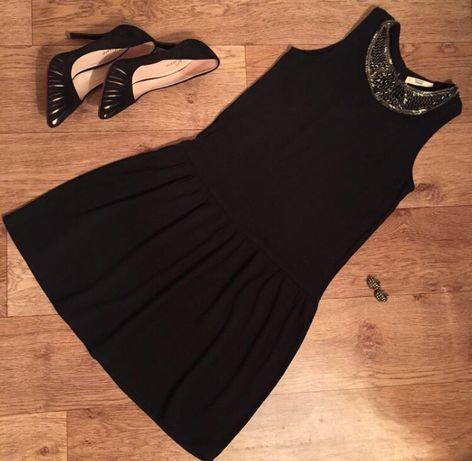 Платье черное Mango со стразами