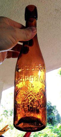 Stara butelka Patschkau Paczków A. Launer Bierhandlung