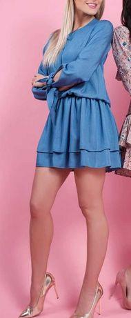 Clooe Niebieska sukienka rozm. S