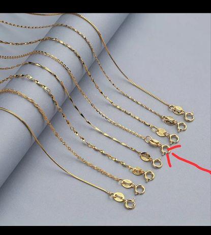 Łańcuszek srebrny pozłacany próba 925