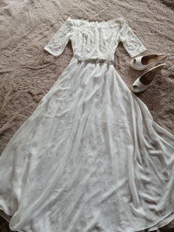 Вечернее платье. Нарядное, свадебное, белое.