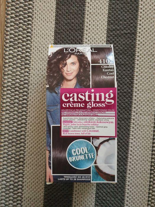 Farba do włosów Loreal casting gloss 4102 chłodny kasztan Libiąż - image 1