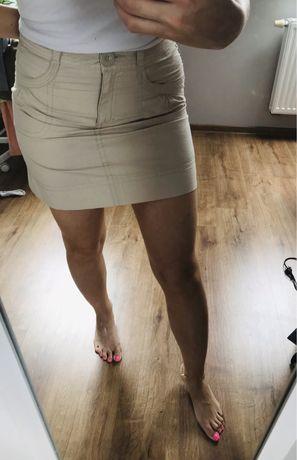 Spódniczka mini krótka hm jasna beżowa na lato