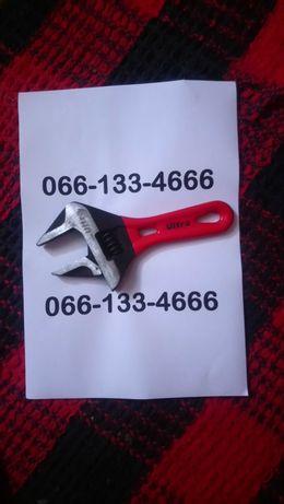 Ключ разводной с тонкими губками укороченный 155мм, 0-41мм CrV Ultra