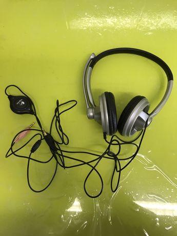 Auscultadores headphones Logitech com microfone