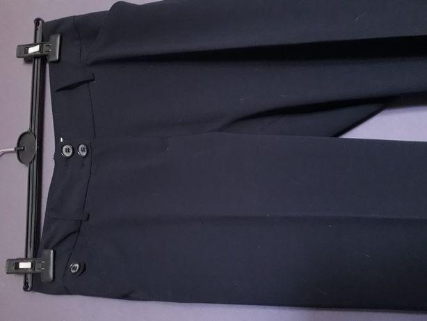 Spodnie BIAGGINI na kant eleganckie granatowe 38