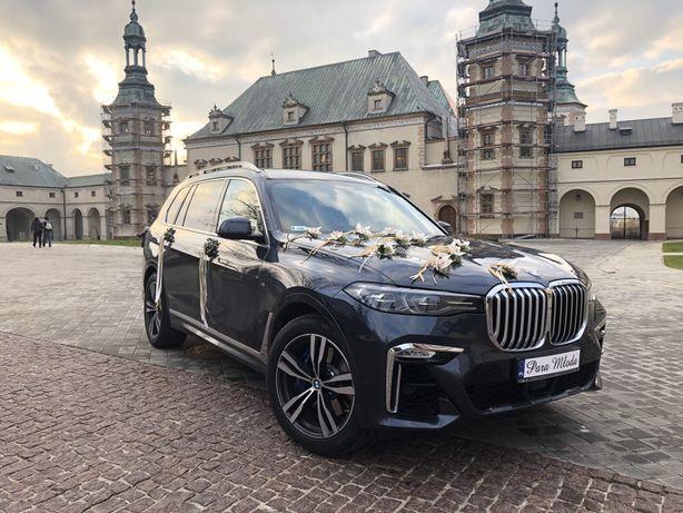 Nowe BMW X7 2019r. auto samochód do ślubu 7os.