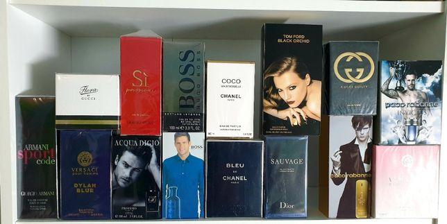 Perfumy 100 ml Armani Boss Calvin Klein Gucci Herrera Lacoste Versace