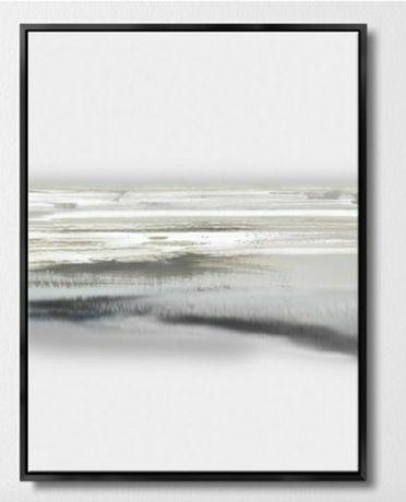 Obraz biało szaro czarny