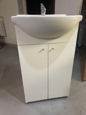 Zestaw łazienkowy umywalka + szafka + bateria