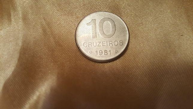 Moneta Brazylia 10 Cruzerios 1981 r.