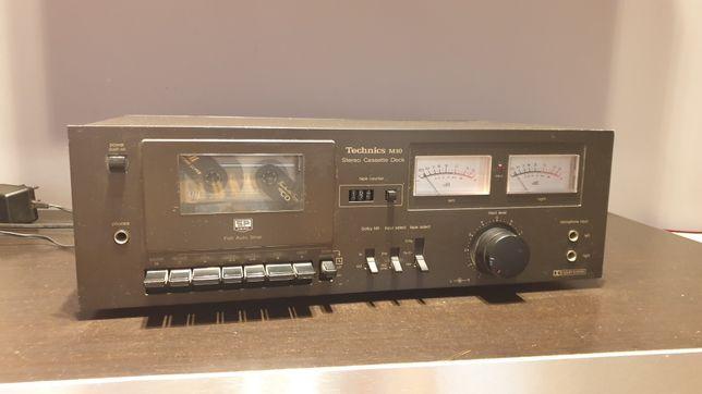 Magnetofon kasetowy deck Technics wskaźniki wychyłowe