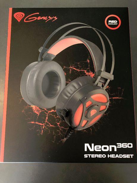 Słuchawki gamingowe Genesis Neon 360 z mikrofonem z podświetleniem LED