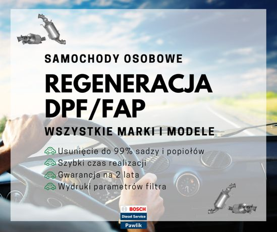 Profesjonalne czyszczenie regeneracja DPF GPF KAT FAP